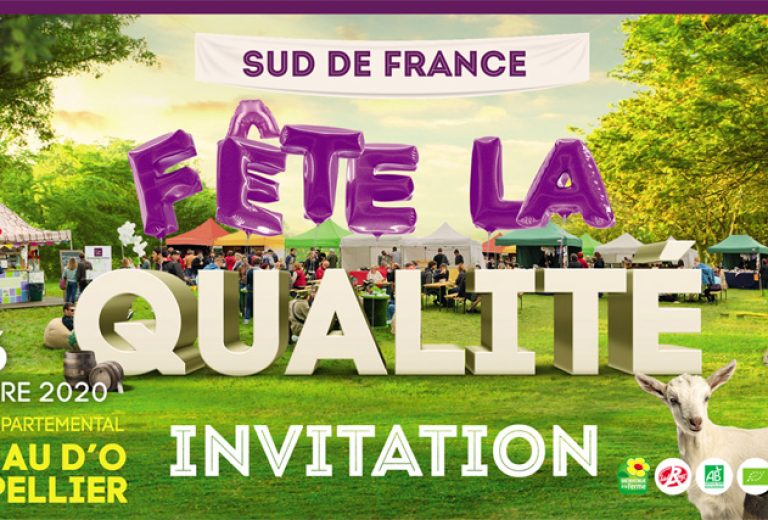 Invitation Inauguration Sud de France fête la Qualité 2020 light
